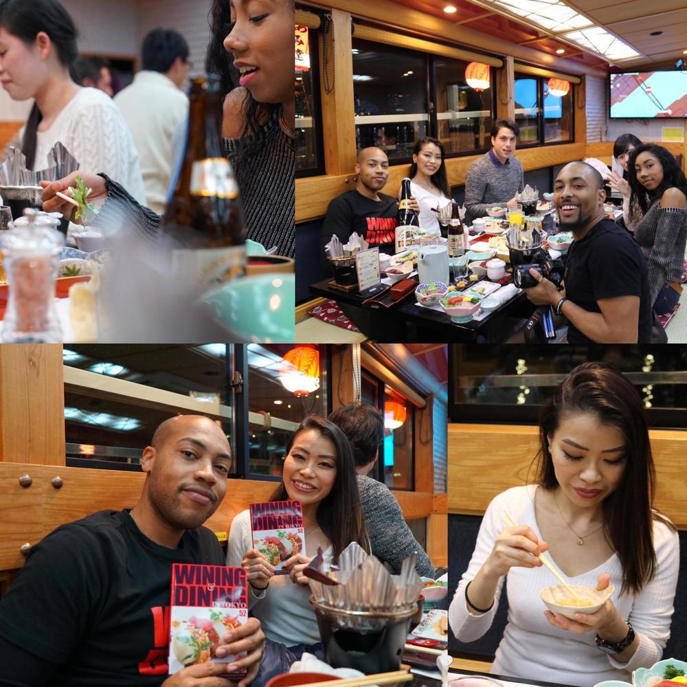 Wining &dining in  Tokyo......